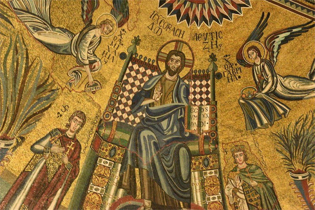 Mosaico absidale di Cristo presente nella Basilica di Sant'Ambrogio