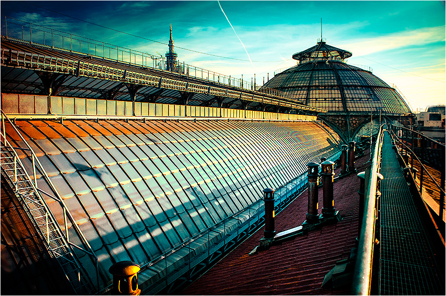 Foto del tetto della Galleria Vittorio Emanuele II