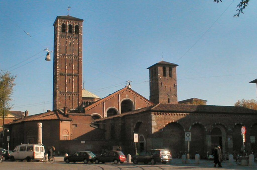 Le due torri della Basilica di Sant'Ambrogio a Milano