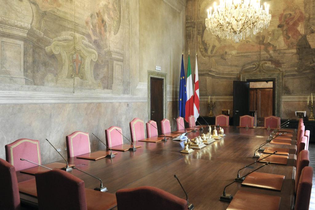 Palazzo Marino la sala della giunta comunale