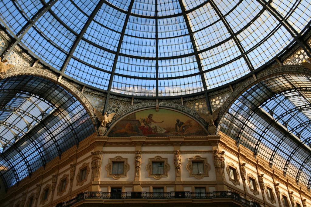 archi a volta Galleria Vittorio Emanuele II Milano