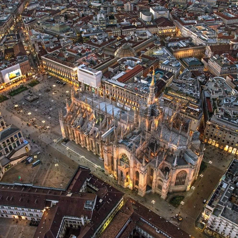 veduta dall'alto del Duomo di Milano
