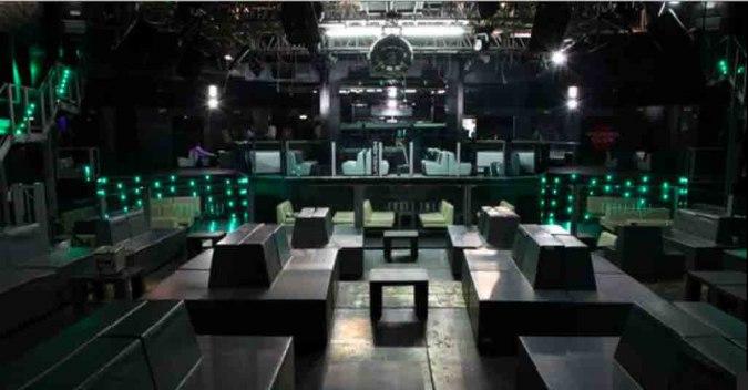 interni della discoteca Hollywood Milano