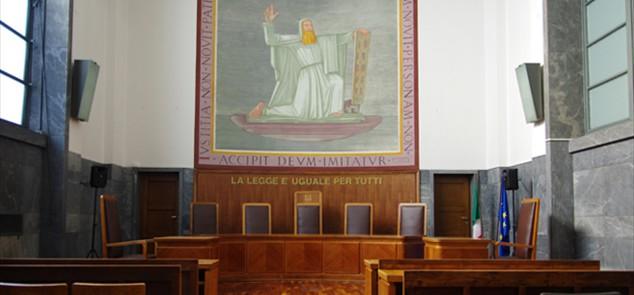 interno del tribunale di Milano