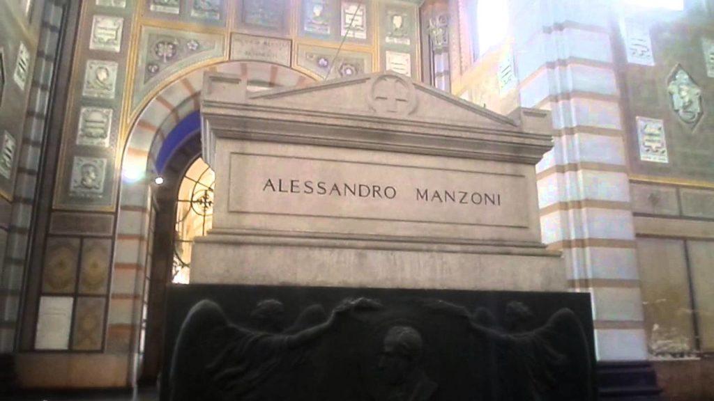 tomba Alessandro Manzoni al cimitero Monumentale di Milano