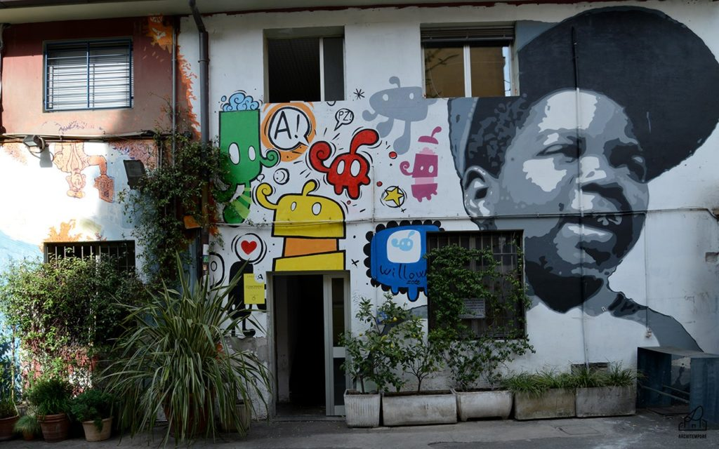 street art al Frida locale Isola Milano
