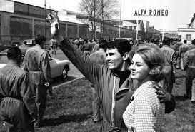 Portello film Rocco e i suoi fratelli nello stabilimento Alfa Romeo