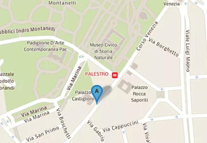 mappa corso Venezia Milano