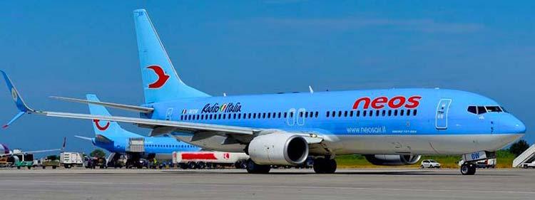 Compagnia aerea Neos attiva a Malpensa Milano